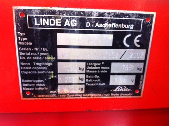Carrello elevatore elettrico a timone transpallet Linde usato - SGA Shop Metal Shelves