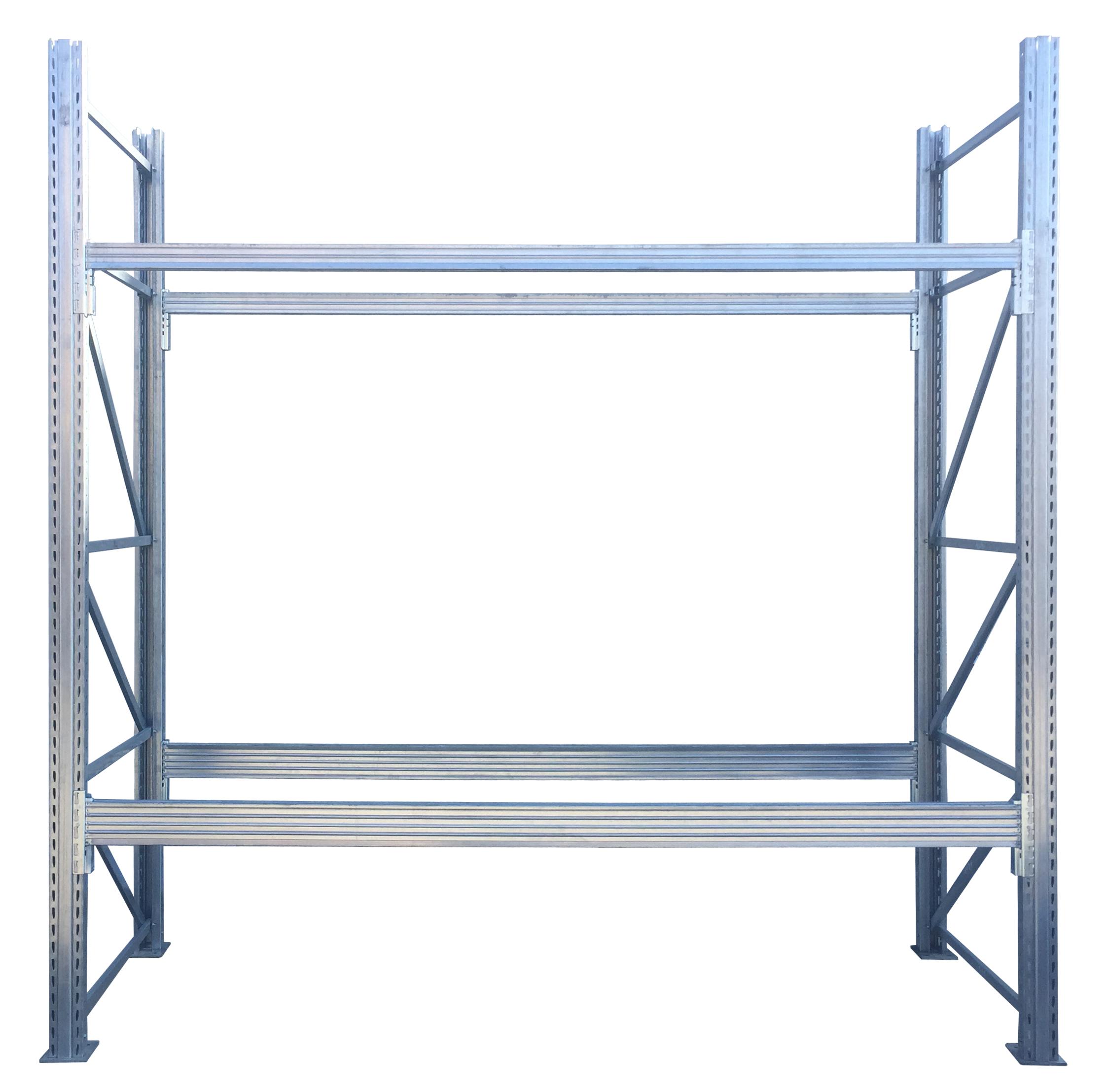 Scaffalature Porta Pallets.Scaffalature Portapallet H6 L98 420 Posti Pallet Portata 1000kg Bancale