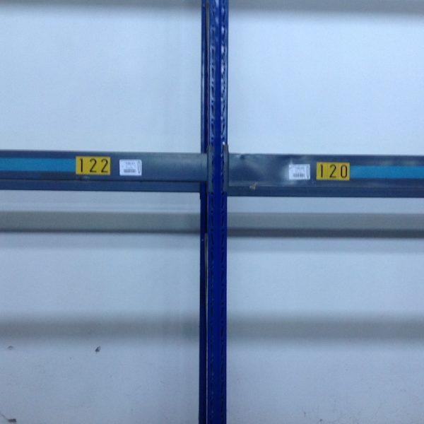 Scaffalatura cantilever bifronte gialla usata - S.G.A. Shop Metal Shelves